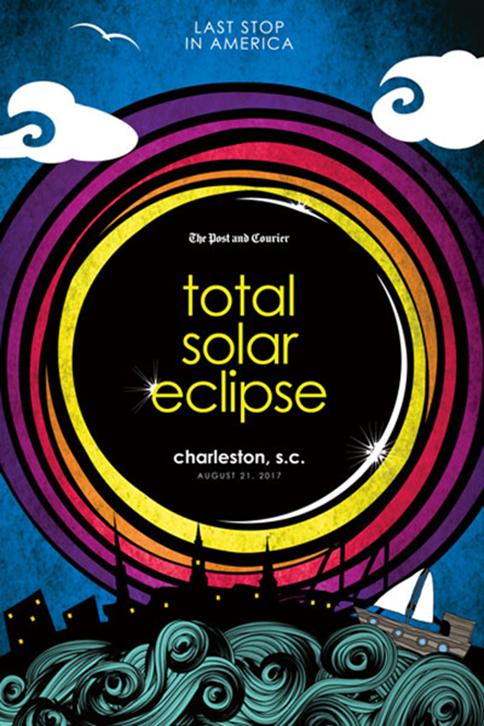 18x20 Total Solar Eclipse Charleston Poster