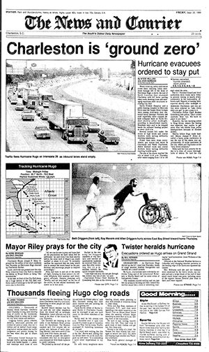 Hurricane Hugo front page
